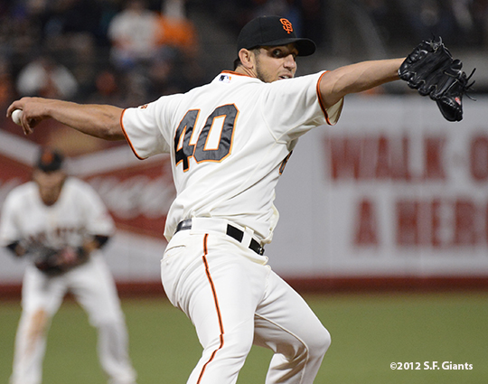 sf giants, san francisco giants, photo, september 17, 2012, madison bumgarner