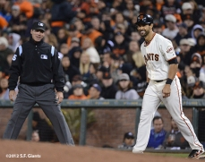 sf giants, san francisco giants, photo, september 17, 2012, umpire, angel pagan
