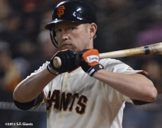 sf giants, san francisco giants, photo, september 17, 2012, aubrey huff