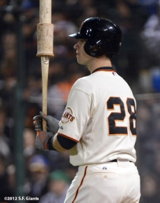 sf giants, san francisco giants, photo, september 18, 2012, buster posey