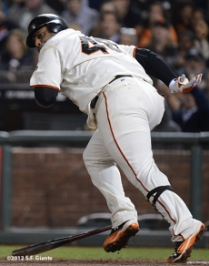 sf giants, san francisco giants, photo, september 18, 2012, pablo sandoval