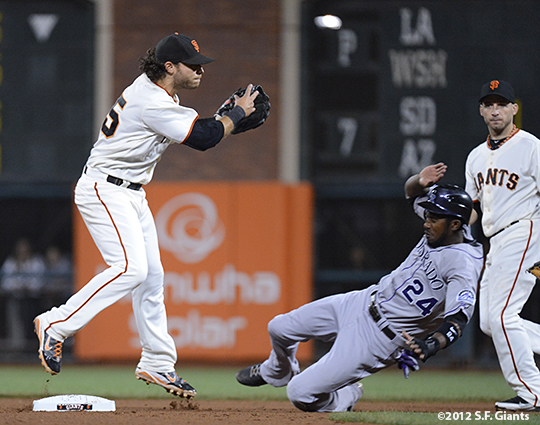 sf giants, san francisco giants, photo, september 18, 2012, brandon crawford