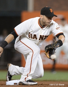 sf giants, san francisco giants, photo, september 18, 2012, marco scutaro