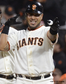 sf giants, san francisco giants, photo, september 18, 2012, hector sanchez