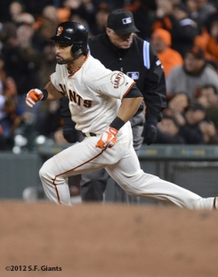 sf giants, san francisco giants, photo, september 18, 2012, angel pagan