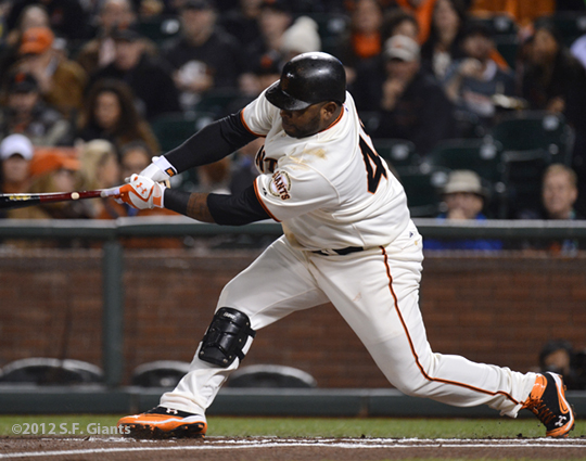 sf giants, san francisco giants, photo, september 19, 2012, pablo sandoval