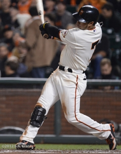 sf giants, san francisco giants, photo, september 19, 2012, GREGOR BLANCO