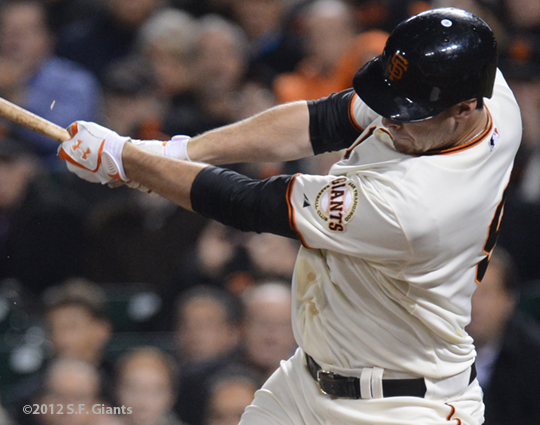 sf giants, san francisco giants, photo, september 19, 2012, brandon belt