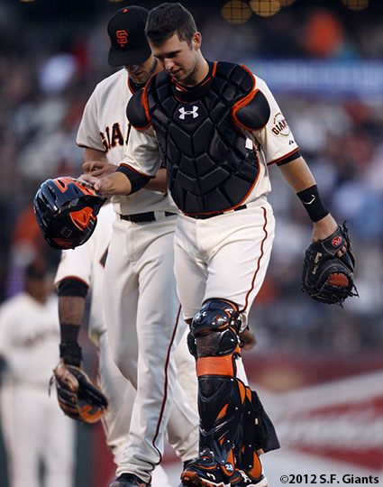 Madison Bumgarner and Buster Posey
