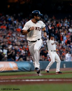 San Francisco Giants, S.F. Giants, photot, 2012, Angel Pagan