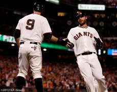 Brandon Belt and Brandon Crawford