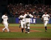 San Francisco Giants, S.F. Giants, photo, 2012, Pablo Sandoval, Sergio Romo, Buster Posey, Brandon Belt