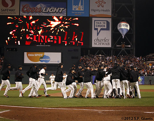 San Francisco Giants, S.F. Giants, photo, 2012, Team