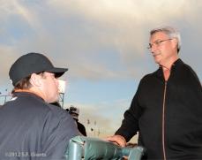 San Francisco Giants, S.F. Giants, photo, 2012, J.T. Snow, Dave Dravecky