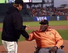 San Francisco Giants, S.F. Giants, photo, 2012, Matt Cain, Willie McCovey