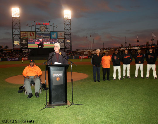 San Francisco Giants, S.F. Giants, photo, 2012, Willie McCovey, Mike Krukow