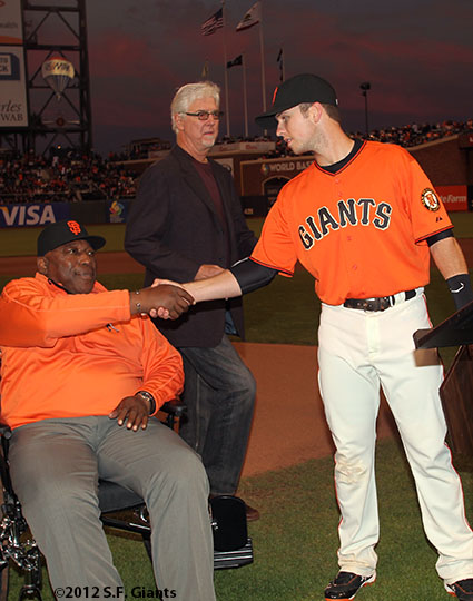 Willie Mac and Buster Posey