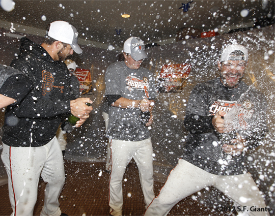 sf giants, san francisco giants, photo, 2012, september 22, giants clinch the west, team