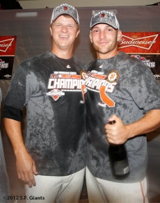 sf giants, san francisco giants, photo, 2012, september 22, giants clinch the west, matt cain, shane loux