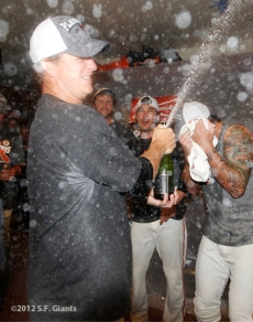 sf giants, san francisco giants, photo, 2012, september 22, giants clinch the west, matt cain