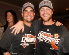 sf giants, san francisco giants, photo, 2012, september 22, giants clinch the west, dan runzler, ryan vogelsong