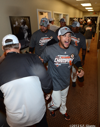 sf giants, san francisco giants, photo, 2012, september 22, giants clinch the west, gregor blanco