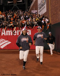 San Francisco Giants, S.F. Giants, photo, 2012, Barry Zito, Matt Cain