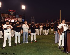 sf giants, san francisco giants, willie mac award, photo, group, willie mccovey, 2009