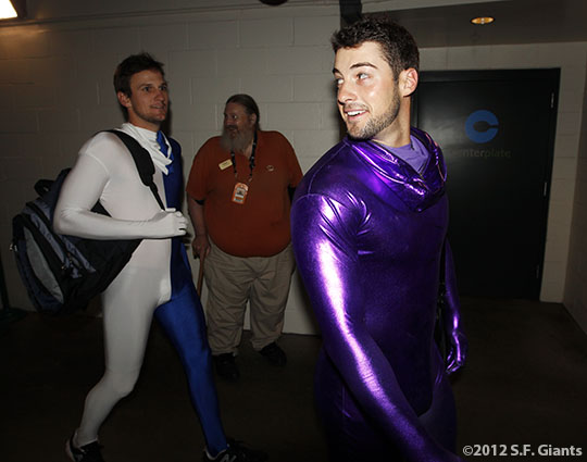 San Francisco Giants, S.F. Giants, photo, 2012, Dan Otero, George Kontos