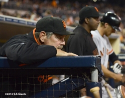 sf giants, san francisco giants, 9/28, 2012, photo, bruce bochy, bambam meulens, hunter pence
