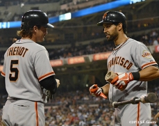 san francisco giants, photo, sf giants, 2012, ryan theriot, angel pagan