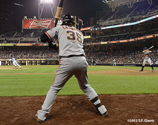 sf giants, san francisco giants, photo, september 28, 2012, san diego, brandon belt, brandon crawford