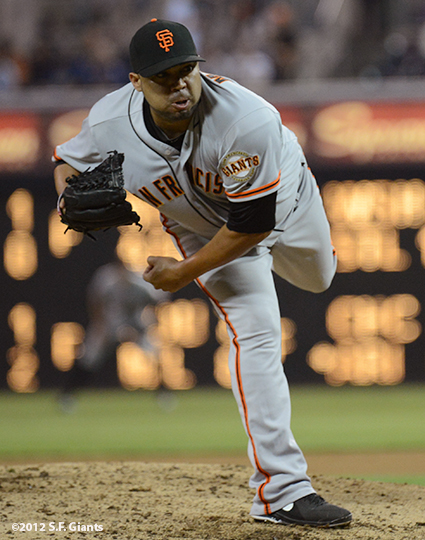 sf giants, san francisco giants, photo, september 28, 2012, san diego, jose mijares
