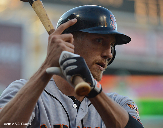 sf giants, san francisco giants, photo, 9/29, 2012, hunter pence