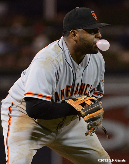 sf giants, san francisco giants, photo, 9/29, 2012, pablo sandoval