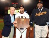 sf giants, san francisco giants, willie mac award, photo, group, willie mccovey, 2008, peter magowan, bengie molina