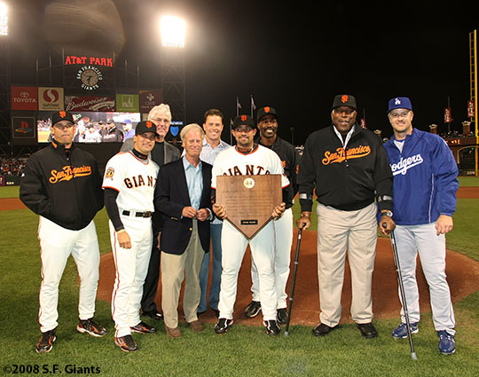 sf giants, san francisco giants, willie mac award, photo, group, willie mccovey, 2008