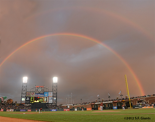 sf giants, san francisco giants, photo, 2012, rainbow