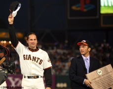 sf giants, san francisco giants, willie mac award, photo, group, willie mccovey, 2006, omar vizquel, rob schneider