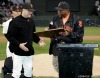 sf giants, san francisco giants, willie mac award, photo, group, willie mccovey, 2004, jt snow, willie mccovey