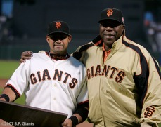sf giants, san francisco giants, willie mac award, photo, group, willie mccovey, 2007, bengie molina