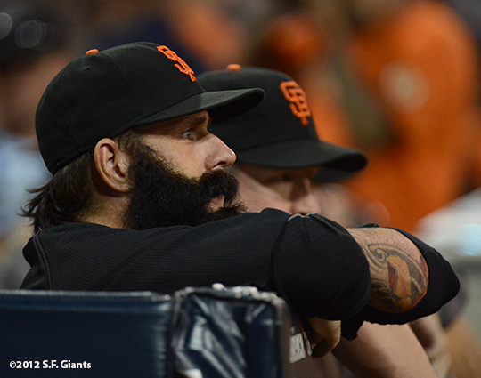 sf giants, san francisco giants, photo, 2012, brian wilson