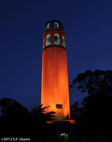 San Francisco Giants, S.F. Giants, photo, 2012, Postseason, Coit Tower