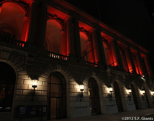 San Francisco Giants, S.F. Giants, photo, 2012, Postseason, Veterans War Memorial