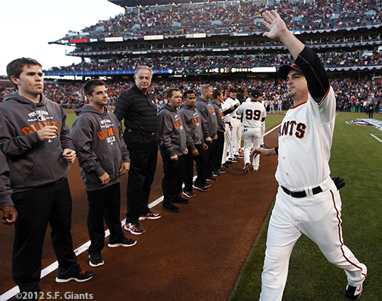 San Francisco Giants, S.F. Giants, photo, 2012, National League Division Series, Ryan Theriot