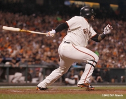 sf giants, san francisco giants, photo, 2012, nlds, pablo sandoval