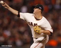 sf giants, san francisco giants, photo, 2012, nlds, matt cain