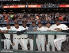 San Francisco Giants, S.F. Giants, photo, 2012, Postseason, Francisco Peguero, Joaquin Arias, Roberto Kelly, Santiago Casilla, Jean Machi, Jose MIjares, Guillaremo Mota