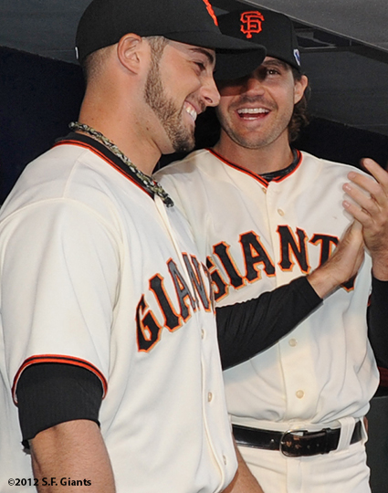 San Francisco Giants, S.F. Giants, photo, 2012, Postseason, George Kontos, Barry Zito