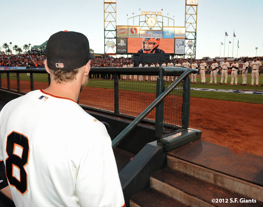 San Francisco Giants, S.F. Giants, photo, 2012, Postseason, Hunter Pence